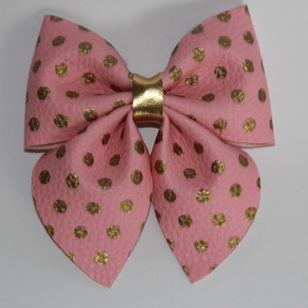 Pink Pocket-dots Sailor Bow
