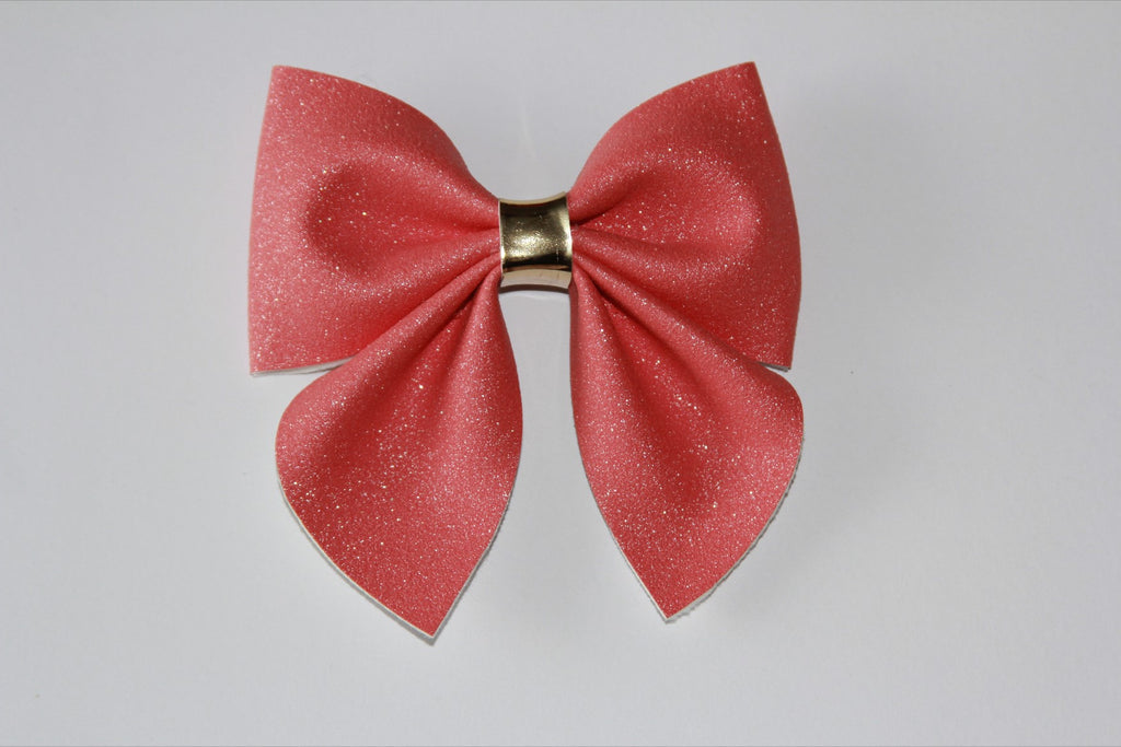 Coral Sailor Bow