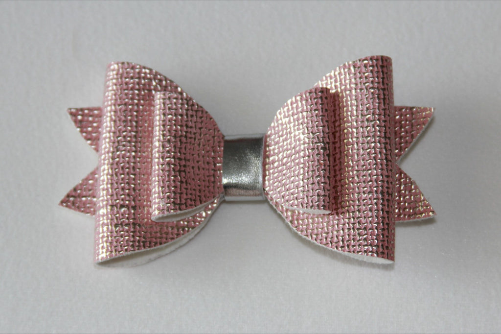 Pink Distrressed Double Bow