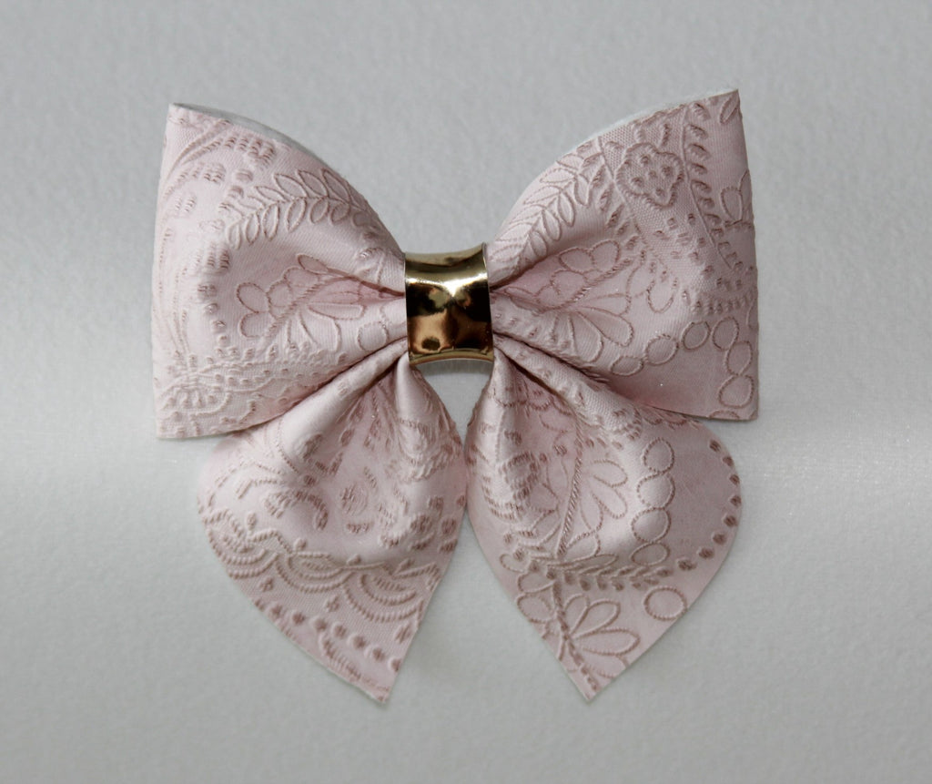 Embossed Pale Pink Sailor Bow
