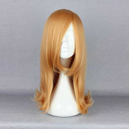 Synthetic Fiber High-Temperature Resistanc Elegant Cosplay Costume Wig Orange Straight Lady Charming