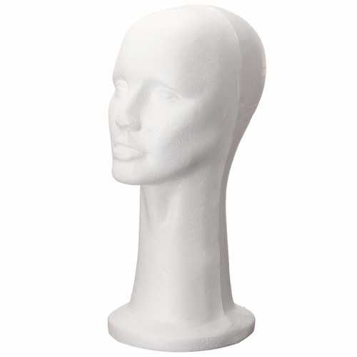 Styrofoam Foam Head Cap Hat Display Model Manikin Mannequin Wig Hair Glasses Holder