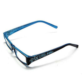 Blue Female Diamond Flower Frame Presbyopic Reading Glasses Eyeglasses 1.0 1.5 2.0 2.5 3.0 3.5 4.0