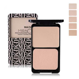 Music Flower Matte Pressed Powder Makeup Palette Concealer Contour Cosmetic With Puff
