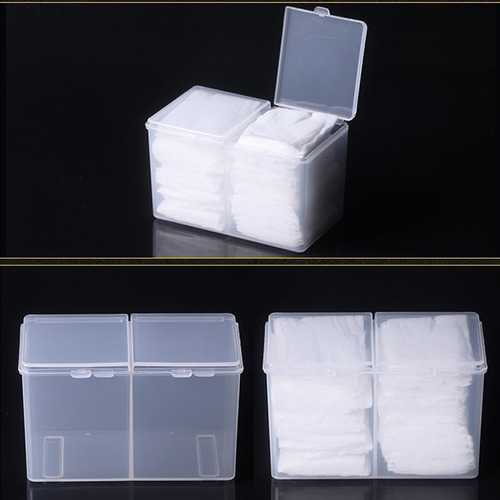 Clear Cotton Pads Container Cosmetic Organizer Nail Art Makeup Standing Holder