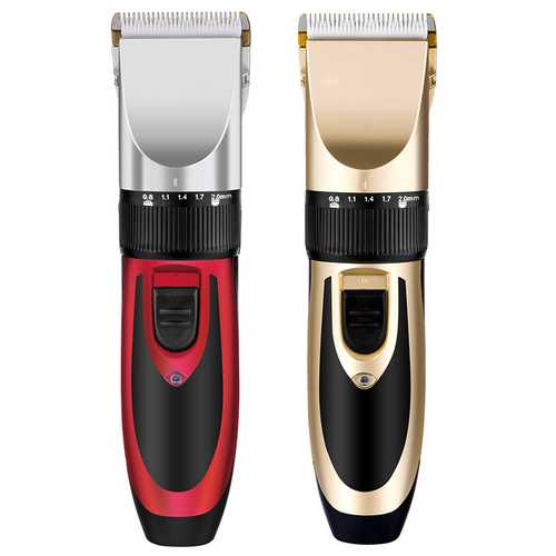 Y.F.M Rechargeable Men Electric Hair Clipper Trimmer Beard Shaver 110-240V Haircut Ceramic Blade