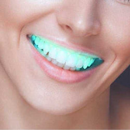 Halloween Luminous Light Tooth Stickers Braces Flash LED Denture Props