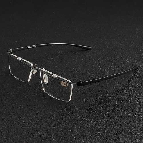 BROADISON Rimless Presbyopia Reading Glasses Lightweigt