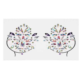 3D Acrylic Breast Decoration Rhinestone Sticker Masquerade