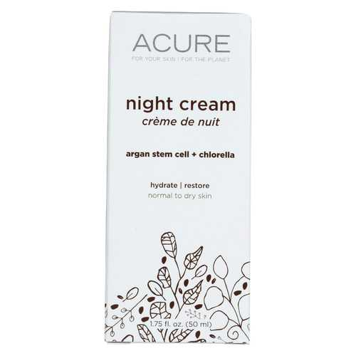 Acure - Night Cream - Argan Extract and Chlorella - 1.75 FL oz.