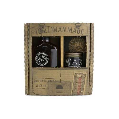 Men Made Wash & Wax Set - # Sweet Tobacco: 1x Shampoo, Conditioner & Body Wash 530ml + 1x Hair Wax 56g  2pcs