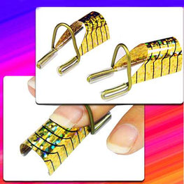 10pcs Golden UV Gel Acrylic Nail Art Tips Extension Tool