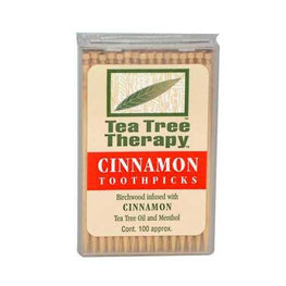 Tea Tree Therapy Cinnamon Toothpicks (12x100 CT)