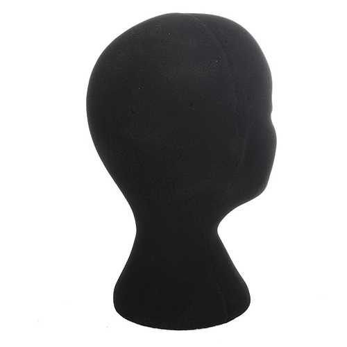 Female Black Styrofoam Mannequin Head Stand Model