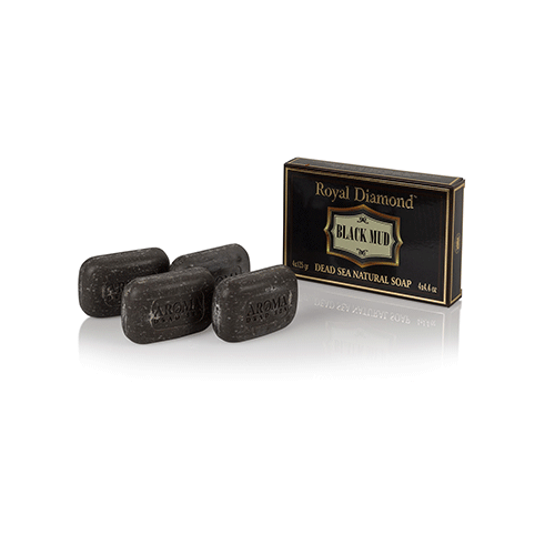 Royal Diamond Black Mud 4 Soaps kit