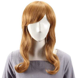Human Hair Wig Long Straight Full Bang Virgin Remy Mono Top Capless