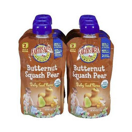 Earth's Best Baby Foods Puree Squash/Pear (12x4OZ )
