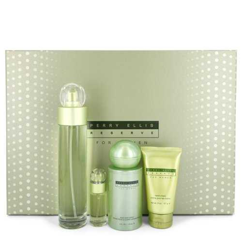 Perry Ellis Reserve By Perry Ellis Gift Set -- 3.4 Oz Eau De Parfum Spray + 4 Oz Body Mist + 2 Oz Hand Cream + .25 Oz Mini Edp Spray For Women