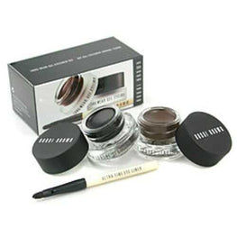 Bobbi Brown Long Wear Gel Eyeliner Duo: 2x Gel Eyeliner 3g ( #black Ink, #sepia Ink ) + Mini Ultra Fine Eye Liner Brush --3pcs For Women