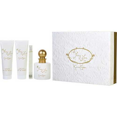 Fancy Love Eau De Parfum Spray 3.4 Oz and Body Lotion 3 Oz and Shower Gel 3 Oz and Eau De Parfum Spray Mini .34 Oz For Women