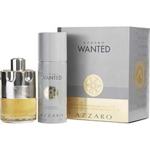 Azzaro Wanted Edt Spray 3.4 Oz and Free Deodorant Spray 5.1 Oz (travel Offer) For Men