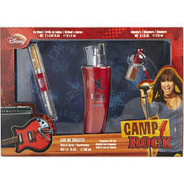Camp Rock Edt Spray 1.7 Oz and Lip Gloss and Edt Mini 0.1 Oz For Women