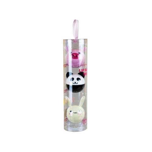 simple pleasures animal lip balm trio set ( Case of 12 )