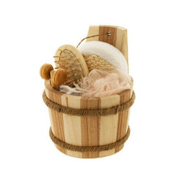 Bath Set in Wood Barrel ( Case of 8 )