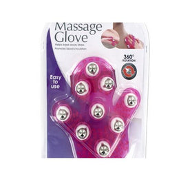 Massage Glove with Rotating Steel Balls ( Case of 4 )
