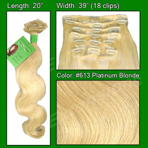 #613 Platinum - 20 inch Body Wave