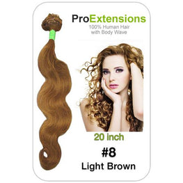 #8 Light Brown - 20 inch Body Wave