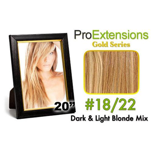 #18/22 Dark Blonde w/Light Blonde Highlights