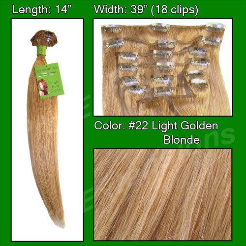 #22 Medium Golden Blonde - 14 inch