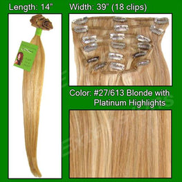 #27/613 Golden Blonde w/ Platinum Highlights - 14 inch