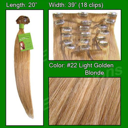 #22 Medium Golden Blonde - 20 inch