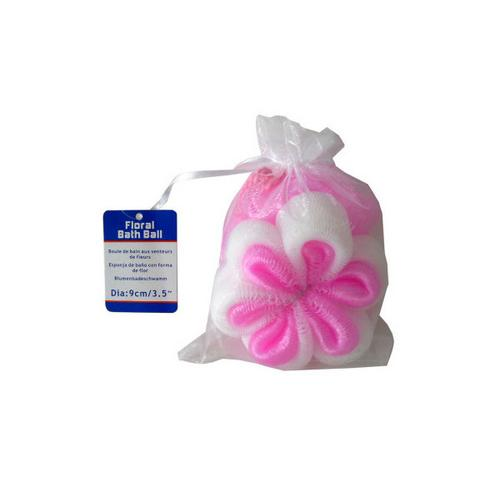 Floral-Shaped Bath Scrubber ( Case of 96 )