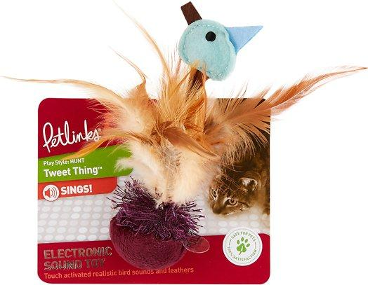 Petlinks Tweet Thing Sound Feathered Cat Toy