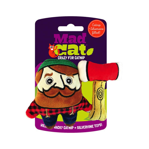 Mad Cat Lumpurrjack 2 Pack Catnip & Silvervine Cat Toy