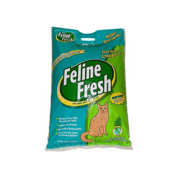 Feline Fresh Instant Odor Control Natural Pine Cat Litter - Pelleted