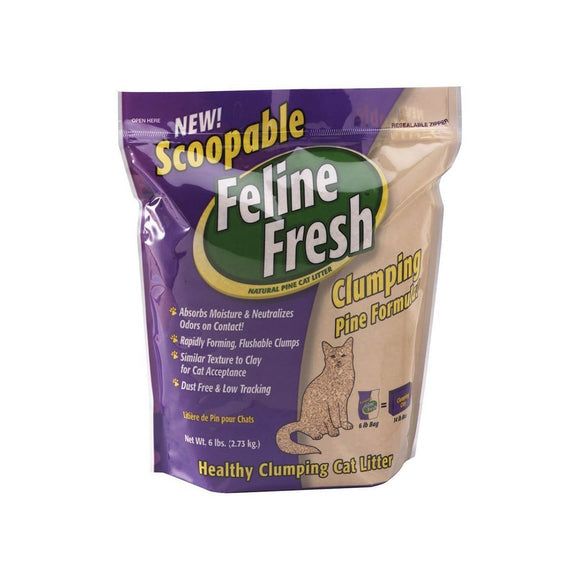 Feline Fresh Instant Odor Control Natural Pine Cat Litter - Clumping