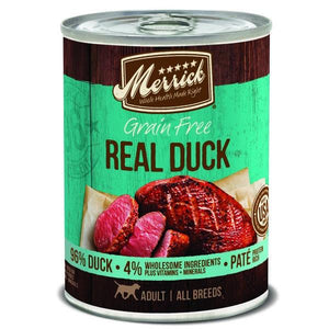 Merrick Grain Free 96% Real Duck Canned Dog Food