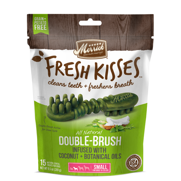 Merrick Fresh Kisses Grain Free Coconut Oil and Botanicals Small Dental Dog Treats