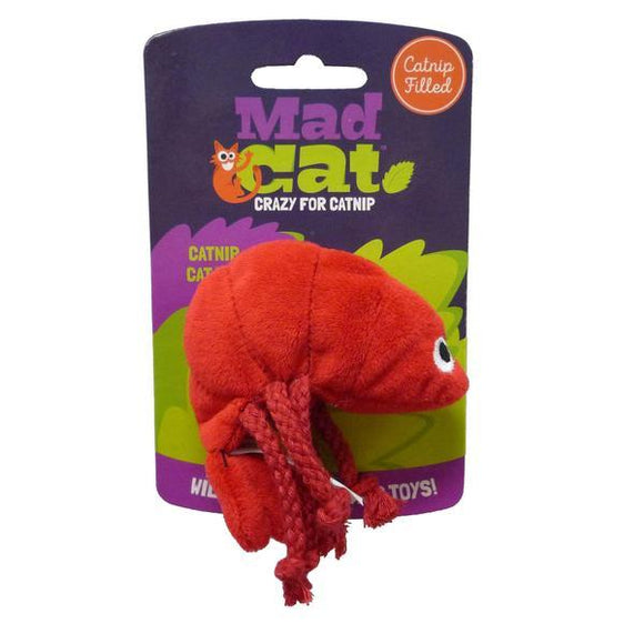 Mad Cat Pouncin' Prawn Catnip & Silvervine Cat Toy