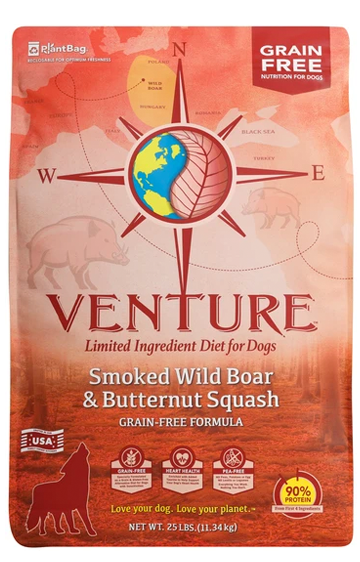 Earthborn Holistic Venture Grain Free Wild Boar and Butternut Squash Dry Dog Food