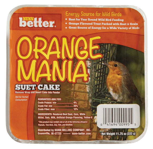 Nunn Better Orange Mania Suet Cake