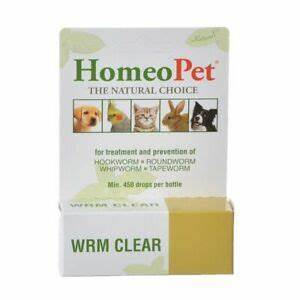 HomeoPet WRM Clear Dog, Cat, Bird & Small Animal Supplement, 450 drops