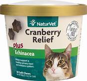 NaturVet Cranberry Relief Plus Echinacea Cat Soft Chews, 60 count