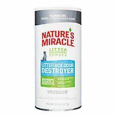 Nature's Miracle Just for Cats Litter Box Odor Destroyer Powder, 20-oz bottle