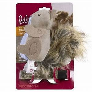 PetLinks Plush Player Refillable Catnip Squirrel
