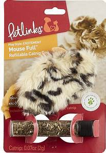 Petlinks Mouse Full Refillable Catnip Mouse